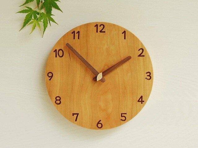 NANANA様ご注文分 直径23.4cm 掛け時計 チェリー【1718】の画像1枚目