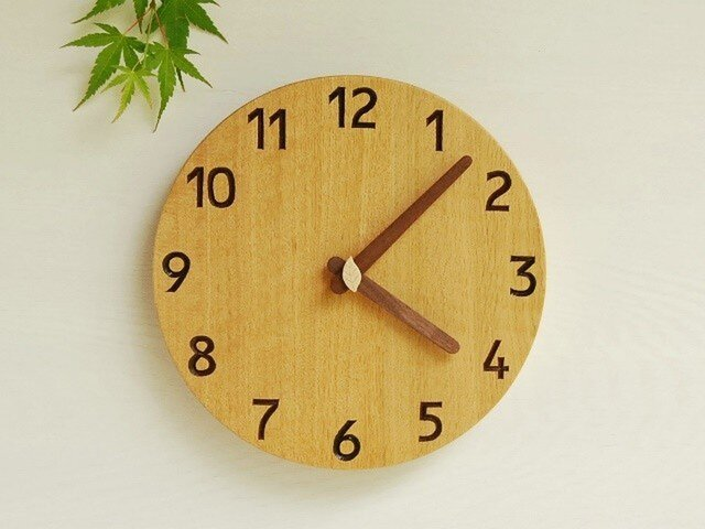 直径24cm 掛け時計 オーク【1720】の画像1枚目