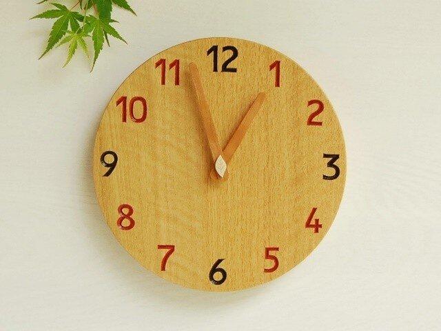 直径24cm 掛け時計 オーク【1722】の画像1枚目