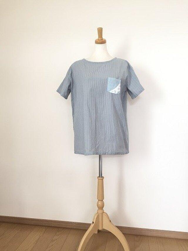シンプルストライプTシャツ M~Lの画像1枚目