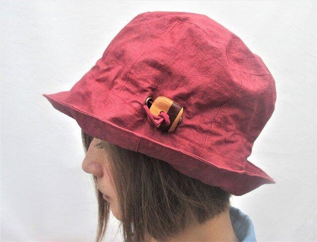 機能性和紙帽子えんじ色チューリップの画像1枚目