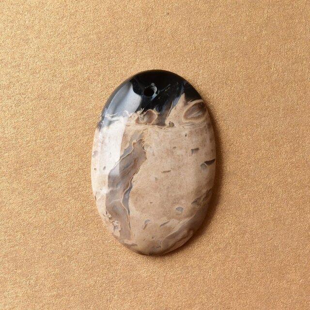 珪化木 ペトリファイドウッド インドネシア産 パームウッド 通し穴 29cts./ 化石・フォッシルの画像1枚目