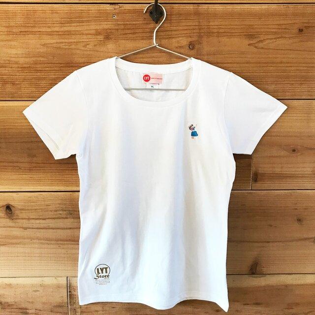 フラ 刺繍 クルーネックTシャツの画像1枚目