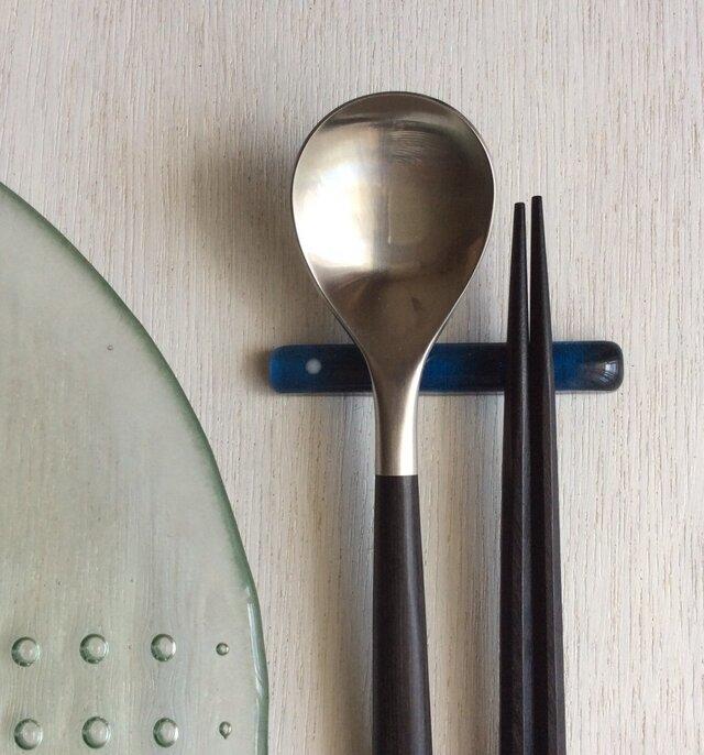 箸置きW 藍色の画像1枚目