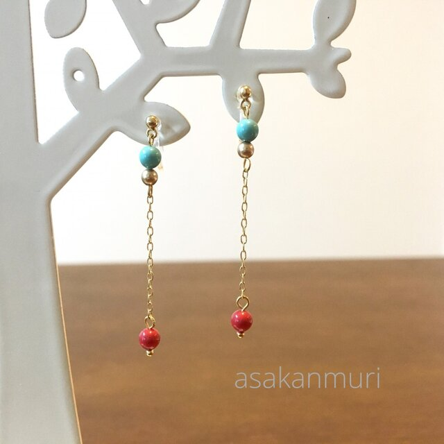 swarovski earring/pierceの画像1枚目