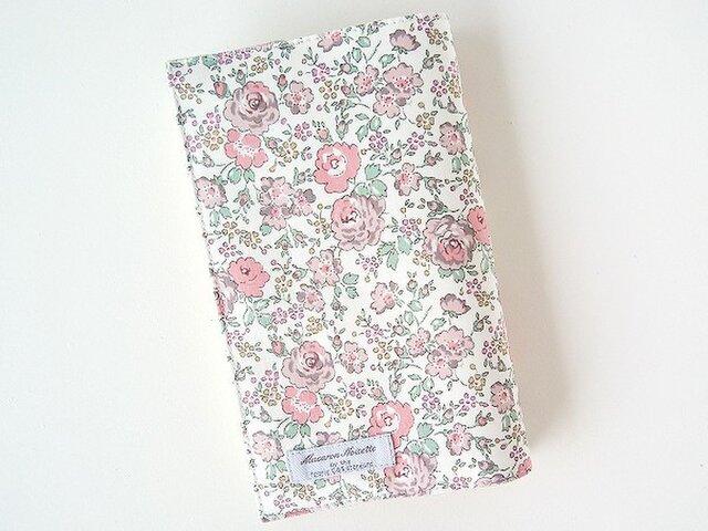 リバティ 新書 ブックカバー フェリシテ あずきミルク 花柄の画像1枚目