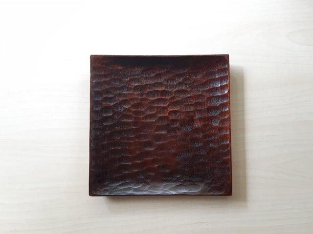 拭き漆 角皿の画像1枚目