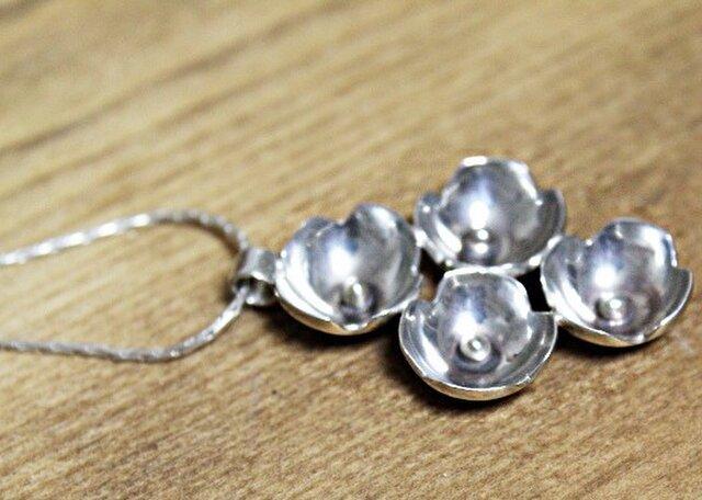 銀のあじさい silver ネックレスの画像1枚目