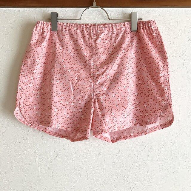 ★送料無料★可愛いハギレのショートパンツ:L(米パンダ:ピンク)の画像1枚目
