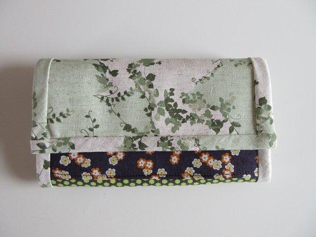 和風で洋風な長財布 ~避暑家~の画像1枚目
