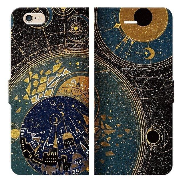 冥王星の街 iPhoneケース手帳型の画像1枚目