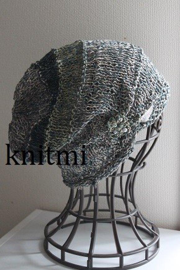 【シルク&麻】ゆるっと柔らか すっぽりOK★涼しいニット帽子 クローバーの画像1枚目