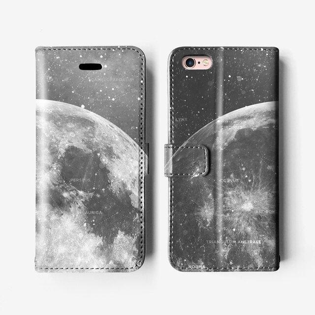 *宇宙風*手帳型 iPhone 7 / 7+ / SE / 6 / 6S / 6+/ 6S / 5 ケース B101の画像1枚目