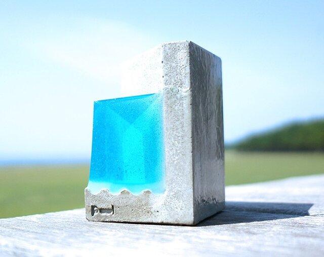 """小さな海のペンスタンド。 """"Pool-F""""(ブルー)の画像1枚目"""