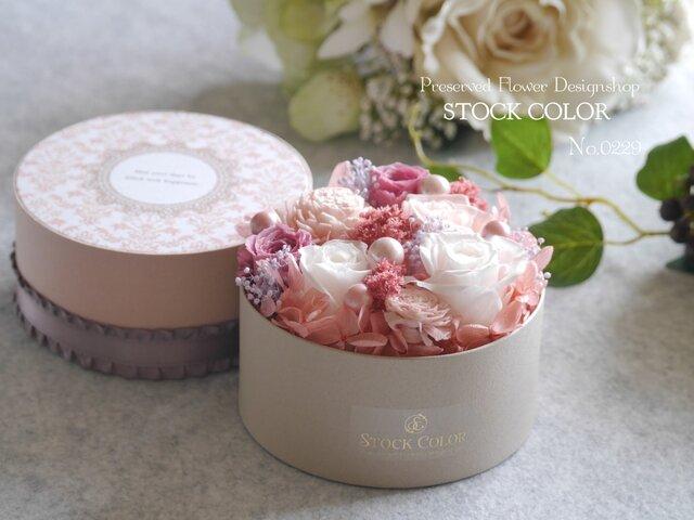 FlowerBox〜pink〜*プリザーブドフラワーの画像1枚目