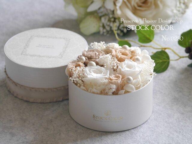 FlowerBox〜White〜*プリザーブドフラワーの画像1枚目