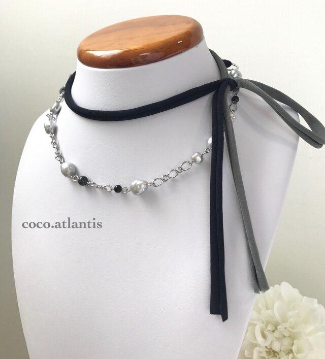 *真珠の首飾り〜monotone romance**の画像1枚目