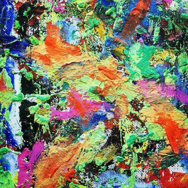 『 FLOWER Ⅱ』(油絵の複製プリント)の画像1枚目