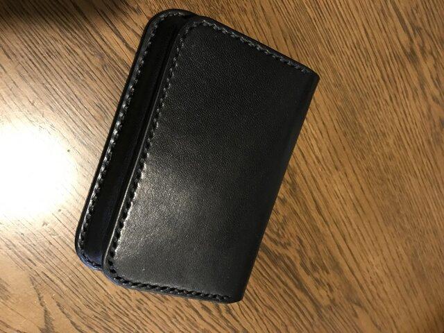 ブラック横長カードケースの画像1枚目