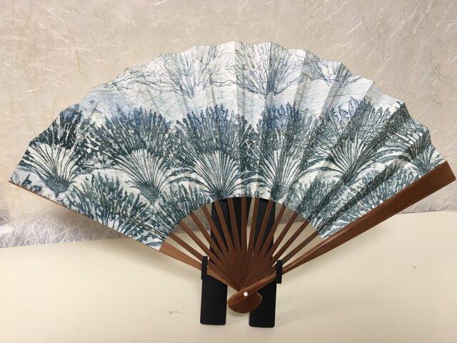 手漉き和紙扇子 南方の風の画像1枚目