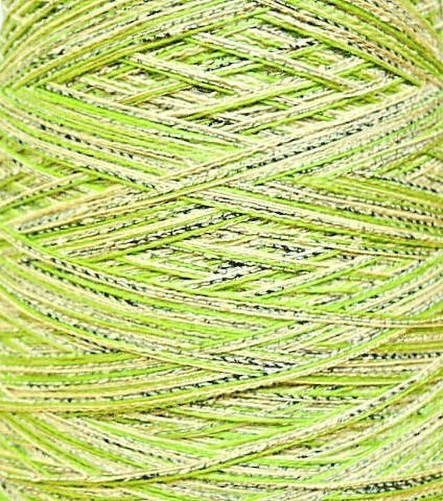 コットン・リネンミックス糸 ミックスカラー 190 gの画像1枚目