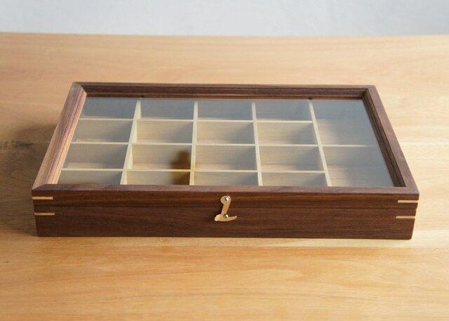 木製アクセサリーケース ウォルナット(小物入れ・ジュエリーボックス)の画像1枚目
