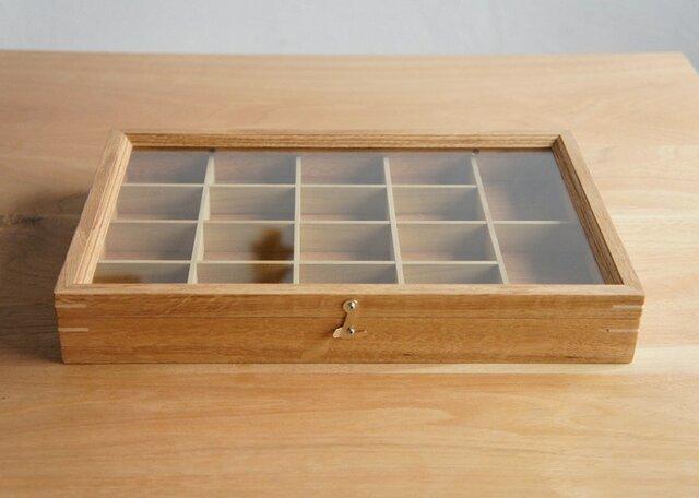 木製アクセサリーケース オーク(小物入れ・ジュエリーボックス)の画像1枚目