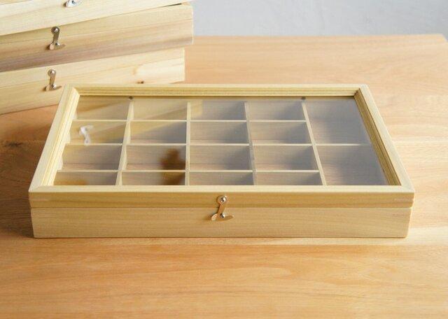 木製アクセサリーケース イエローポプラ(小物入れ・ジュエリーボックス)の画像1枚目