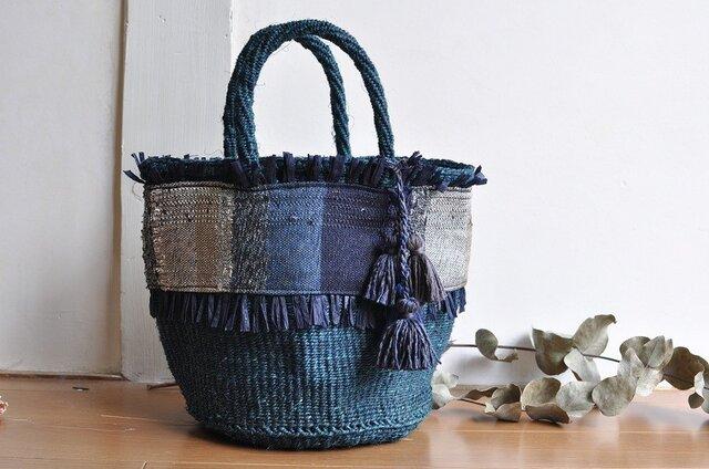 織布×サイザルバッグ ~AI 絹~の画像1枚目