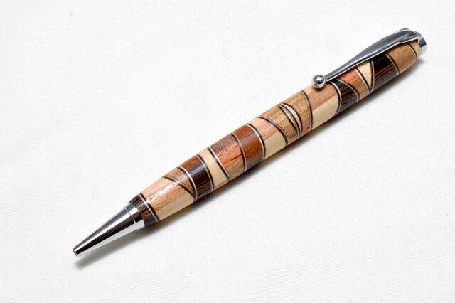 [再出品]【寄木】手作り木製ボールペン スリムライン CROSS替芯の画像1枚目