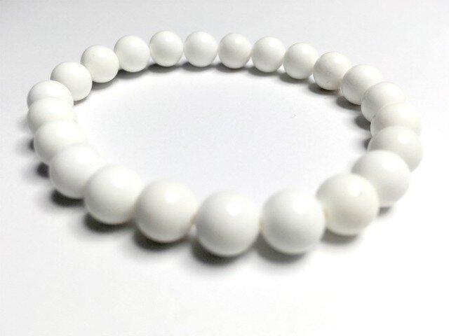 ホワイトオニキスのシングルブレスレット【planet】の画像1枚目