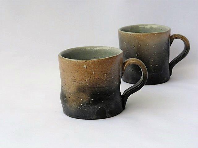 焼き締めマグカップの画像1枚目