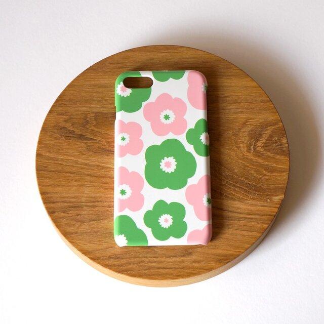 【iPhone/Android】側表面印刷*ハード型*スマホケース「popy ( pink × green )」の画像1枚目