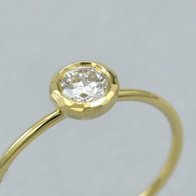 K18YG ダイヤモンド リング (813071A)の画像1枚目