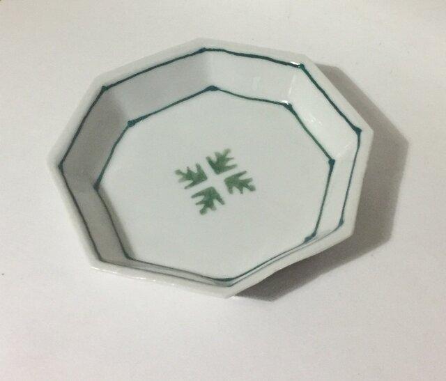 Z263 磁器染付八角小皿の画像1枚目