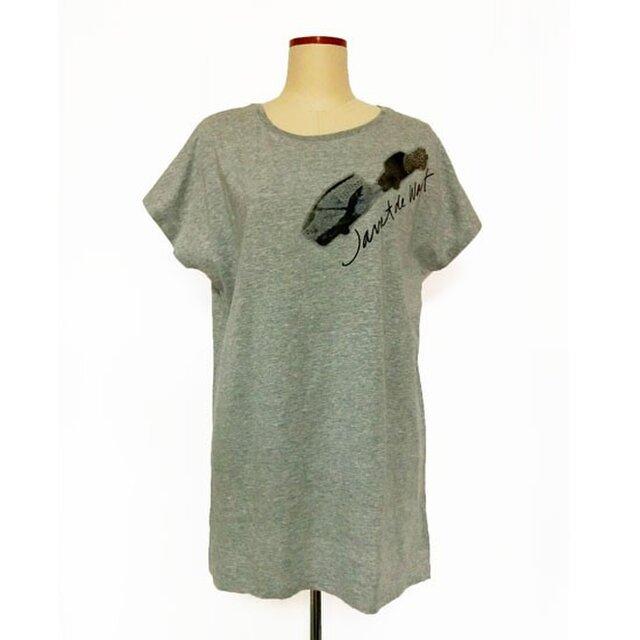 キャラバンカープリント ロングTシャツグレーの画像1枚目