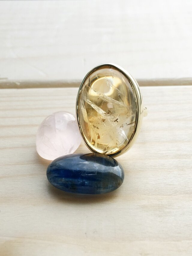- SOLD OUT - citrine ring k10の画像1枚目