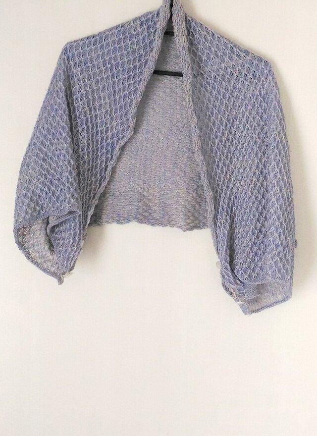 夏のニットショール:麻と絹の画像1枚目