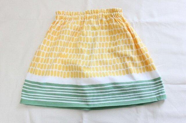 てぬぐいスカート 100サイズ とうもろこしの画像1枚目