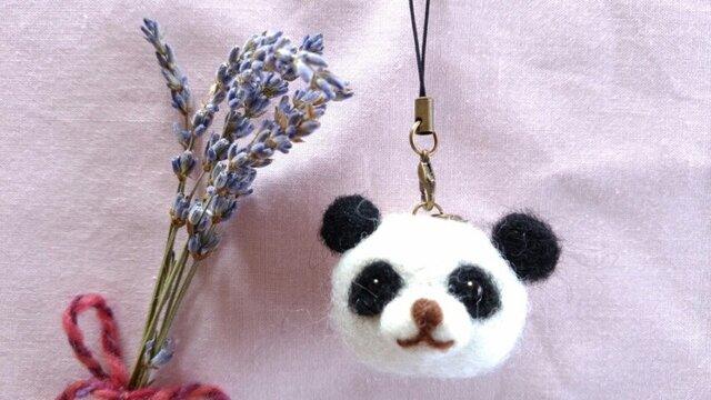 羊毛ストラップ(2way)*香りアニマル*パンダの画像1枚目
