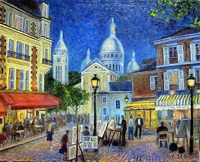 パリの街角 テルトル広場 アッパーライトの画像1枚目