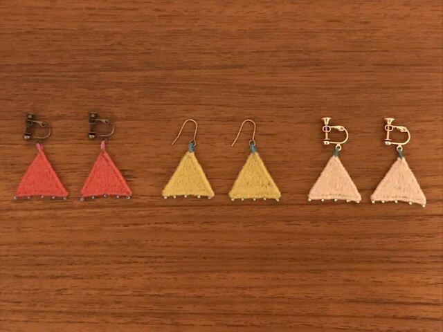 【送料無料 & SALE】刺繍アクセサリー(三角)の画像1枚目