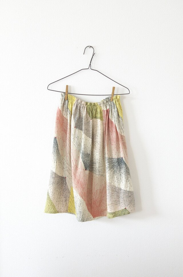 富士山柄!シンプルギャザースカートの画像1枚目