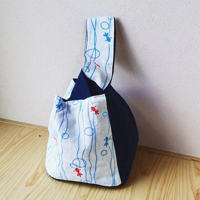"""再販☆ """"金魚""""手提げ袋の画像1枚目"""
