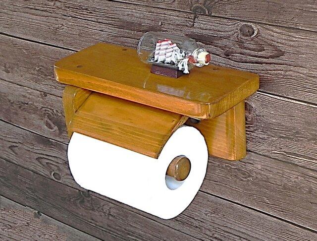 木製トイレットペーパーホルダー Ver.9(オーク)の画像1枚目