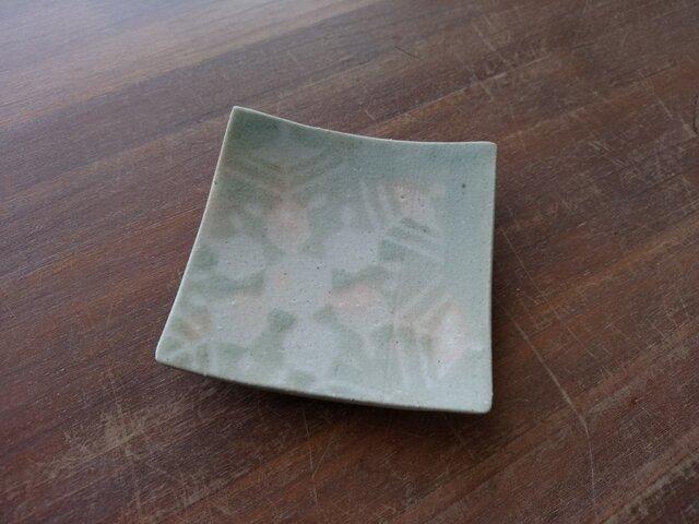 四方皿(小) 雪紋-2の画像1枚目