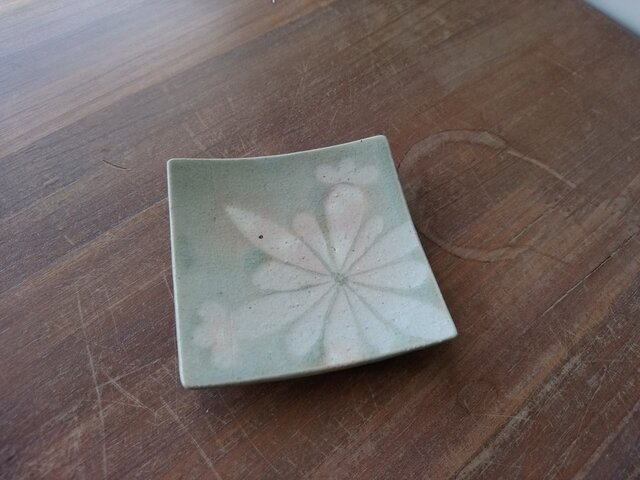四方皿(小) 雪紋-4の画像1枚目