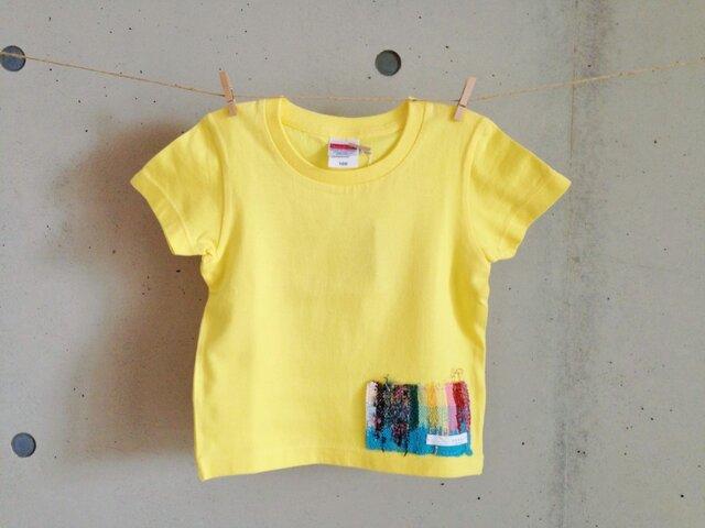 さをりTシャツ(100㎝・黄)の画像1枚目
