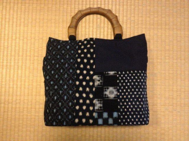 【30%値下げ】古布:絣のバッグの画像1枚目