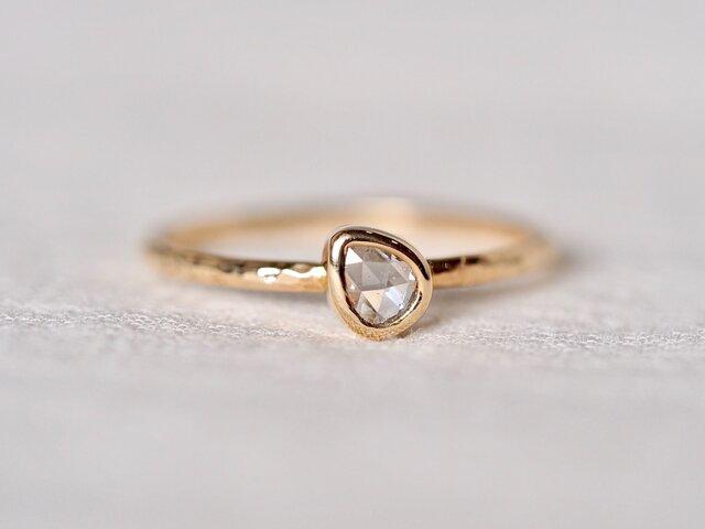 Old Rose Cut Drop Diamond Ringの画像1枚目
